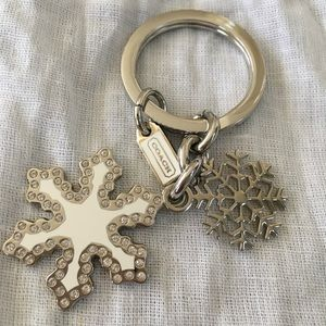 NEVER USED Coach Snowflake Keychain MINT CONDITION